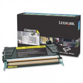 Toner Lexmark C746A1YG, yellow, 7 k, C746dn , C746dtn , C746n ,C748de , C748dte , C748e