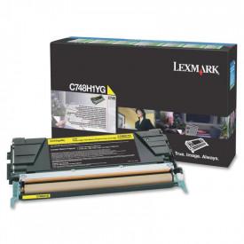 Toner Lexmark C748H1YG, yellow, 10 k, C748de , C748dte , C748e