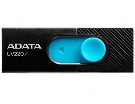 USB Flash Drive ADATA UV220 16Gb, black/blue retail, USB 2.0