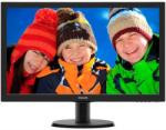 """Monitor 23.6"""" PHILIPS 243V5LHAB, FHD 1920*1080, TN, 16:9, WLED, 1 ms,250 cd/m2, 170/160, 10M:1, HDMI"""