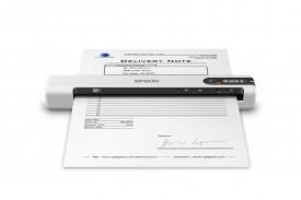 Scanner Epson DS-80W portabil, dimensiune A4, tip sheetfed, viteza scanare: 4 sec/pagina alb-negru si color, rezolutie optica 600x600dpi, , fiabilitate ciclu de lucru zilnic 300 pagini, formate ieşire : BMP, JPEG, TIFF, Scanare către multi TIFF, PDF, Sc