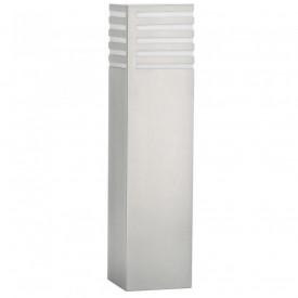 Stalp mic gradina Philips myGarden Veranda, E27, 1x20W, 230V, lumina calda 2700K, 1320 lumeni, IP44, bec economic inclus, culoare argintiu, material otel