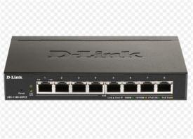 Switch D-Link DGS-1100-08V2, 8 porturi Gigabit, Capacity 16Gbps, 8K MAC, Desktop, Easy Smart, fanless, metal