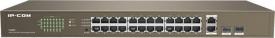 Switch IP-COM F1026F 24-Port, IEEE 802.3, IEEE 802.3u, IEEE 802.3x, IEEE 802.3ab, interface: 24 X 10/100M+2x10/100/1000M auto-negotiation RJ45 ports (Auto MDI/MDIX), 2x1000M SFP solts (Combo), Forwarding rate: 10 Mbps: 14880 pps, 100 Mbps: 148800 pps, 100
