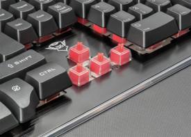 Tastatura Trust GXT 860 Thura, Semi-mechanical Gaming, neagra