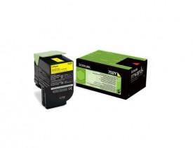 Toner Lexmark 70C20YE, yellow, 1 k, CS510DE, CS410DN, CS310DN,CS310N, CS410N, CS410DTN, CS510DTE
