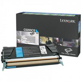Toner Lexmark C5200CS, cyan, 1.5 k, C520n , C530dn