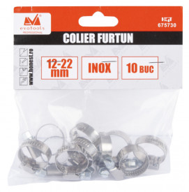 Colier Inox pentru Furtun / D[mm]: 25-40; A[buc]: 10