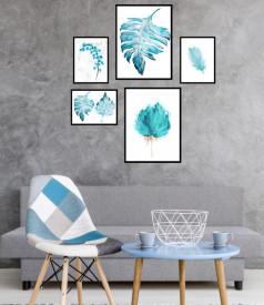 Set 5 tablouri decorative Frunze
