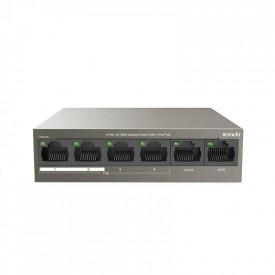 Switch TENDA TEF1106P-4-63W, 6-Port 10/100Mbps Desktop4 POE + 2 Normal / 10/100 Mbps at Half Duplex / Unmanaged / 63W /.