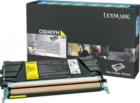 Toner Lexmark C5240YH, yellow, 5 k, C524 , C524dn , C524dtn ,C524n , C532dn , C532n , C534dn , C534dtn , C534n
