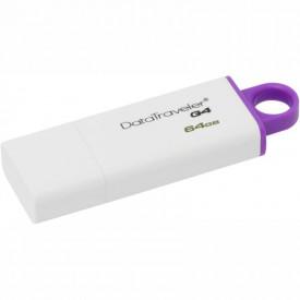 USB Flash Drive Kingston 64 GB DataTraveler DTIG4, USB 3.0, white-violet