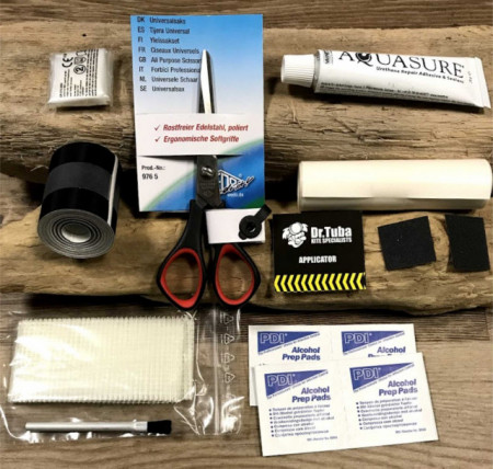 Sail repair kit from Dr Tuba for kites, sails and windsurfing