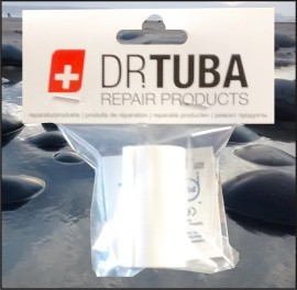 Dr Tuba Sticky Back RipStop Nylon WHITE images