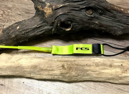 Surfing leash from FCS twin surfboard rail saver