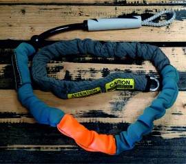 Mystic Handle Pass Leash. Neo. Teal. images