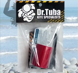 Dr Tuba Sticky Back Dacron RED images