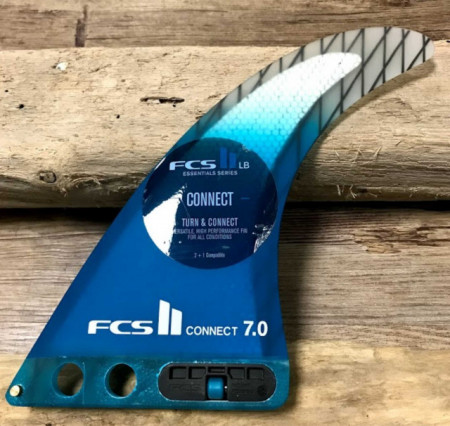 Surfing fin FCS 2 Connect 7.0 with performance carbon core