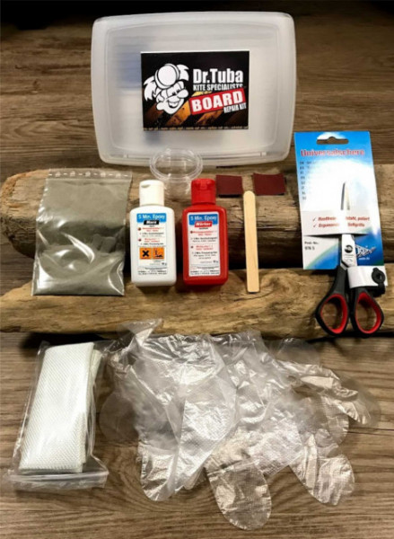 Epoxy surf board repair kit from Dr Tuba