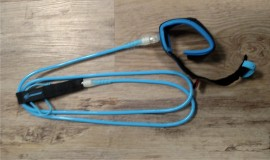 Creatures Pro Surf Leash. 6' Ankle. Blue/Clear. images