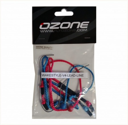 Kite spare parts for Ozone, leader line set for wake style and compact bars with click in loop