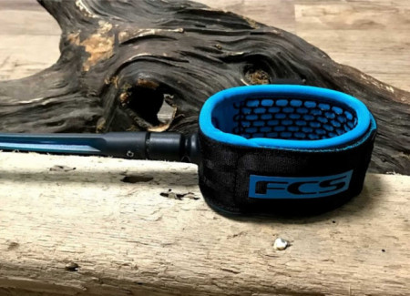 FCS surfing regular leash, 7ft in blood orange and navy colour for your surf board