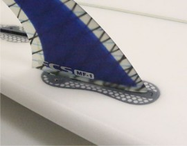 Use FCS 1 fins in FCS 2 fin boxes infill kit