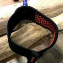 FCS surfing regular leash, 7ft in blood orange and navy colour for your surfboard