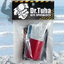 Dr Tuba Sticky Back Dacron RED