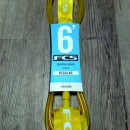 FCS Regular Surf Leash. 6' Ankle. Yellow.