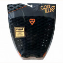 Gorilla Tail Pad. Phat Three. Black/Orange.