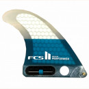FCS II Longboard Fin. Performer. Medium. PC. Blue.
