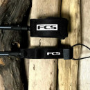 All round surf board leash from FCS ankle cuff and rail saver