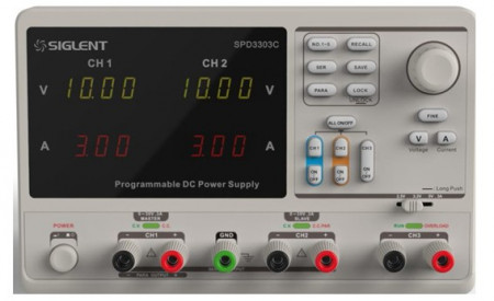 Siglent SPD3303C Separate control and independent triple outputs: 30V/3A*2, 2.5V/3.3V/5V/3A*1, total 195W power PRICE INCLUDES VAT & SHIPPING. images