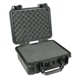 Pelican 1200 hard carry case. Black. (23.5 x 18.1 x 10.5 cm) PRICE INCLUDES VAT & SHIPPING. images