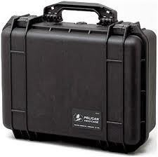 Pelican 1450 hard carry case. Black. (37.1 x 25.8 x 15.2 cm) PRICE INCLUDES VAT & SHIPPING. images