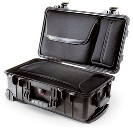 Pelican 1510LOC laptop overnight case. Black. (50.1 x 27.9 x 19.3 cm) PRICE INCLUDES VAT & SHIPPING. images