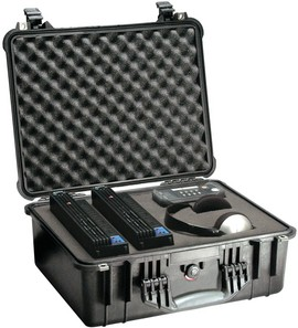 Pelican 1550 hard carry case. Black (46.8 x 35.5 x 19.3 cm) PRICE INCLUDES VAT & SHIPPING. images