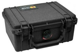 Pelican 1150 hard carry case. Black. (20.8 x 14.4 x 9.2 cm) PRICE INCLUDES VAT & SHIPPING. images