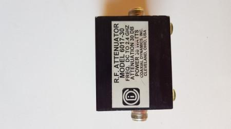 Coaxial Dynamics 6017-30 Attenuator. 30 dB, 30W, N(f) to N(f), DC - 2.4 GHz images