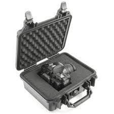 Pelican 1400 hard carry case. Black. (30 x 22.5 x 13.2 cm) PRICE INCLUDES VAT & SHIPPING. images