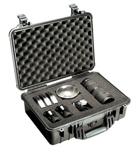 Pelican 1500 hard carry case. Black. (42.5 x 28.4 x 15.5 cm) PRICE INCLUDES VAT & SHIPPING. images