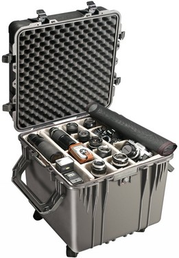 Pelican 0350 cube carry case. Black. (50.8 x 50.8 x 50.8 cm) PRICE INCLUDES VAT & SHIPPING. images