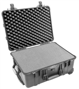 Pelican 1560 hard carry case. Black. (51.7 x 39.2 x 22.9cm) PRICE INCLUDES VAT & SHIPPING. images