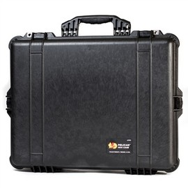 Pelican 1600 hard carry case. Black. (54.4 x 41.9 x 20 cm) PRICE INCLUDES VAT & SHIPPING. images