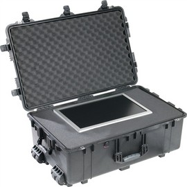 Pelican 1650 hard carry case. Black. (72.5 x 44.5 x 27 cm) PRICE INCLUDES VAT & SHIPPING. images