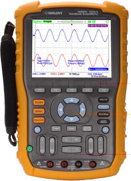 Siglent SHS1102 100 MHz two channel handheld oscilloscope. Isolated inputs. PRICE INCLUDES VAT & SHIPPING. images