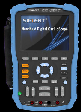 Siglent SHS815 150 MHz two channel handheld oscilloscope. Non-isolated inputs. PRICE INCLUDES VAT & SHIPPING. images