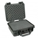 Pelican 1200 hard carry case. Black. (23.5 x 18.1 x 10.5 cm) PRICE INCLUDES VAT & SHIPPING.