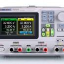 Siglent SPD3303X-E Programmable DC Power Supply. 3 channels independent output, min resolution 10Mv / 10mA, USB Device & LAN, 4.3 inch LCD display PRICE INCLUDES VAT & SHIPPING.